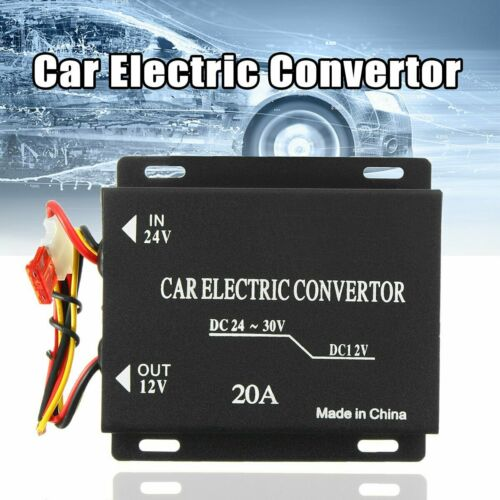 Universal 20A 24V to 12V Car Power Supply Voltage Converter Inverter Transformer