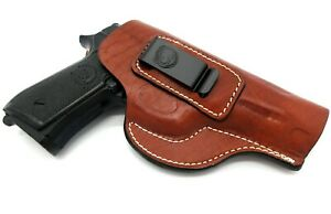 Right Hand Brown Leather IWB Inside Pants Holster for TAURUS PT92