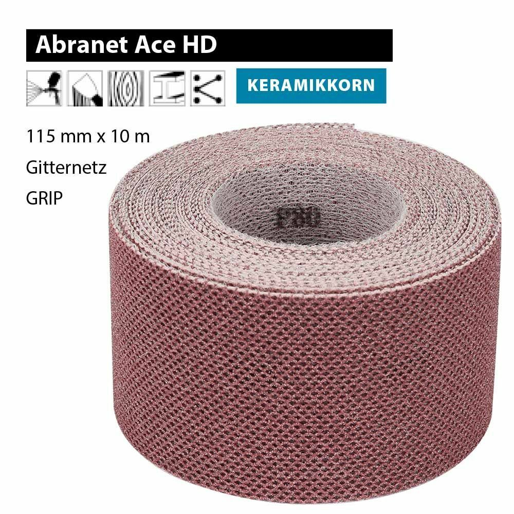 10  x MIRKA Schleifgitter ABRANET ø 125mm P 400 Exzenter Schleifscheiben Scheibe