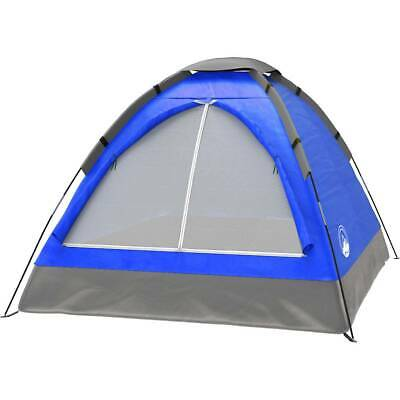 2-Person Tent, Dome Tents for Camping with Carry Bag by Wakeman Outdoors (Blu...