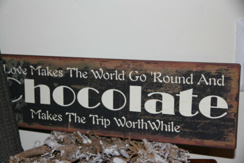 * Metallschild IB Laursen Braun Chocolate Dekoration Shabby Chic Landhaus