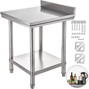 Tavolo In Acciaio Inox cm 60x60x88H con Alzatina Per ...