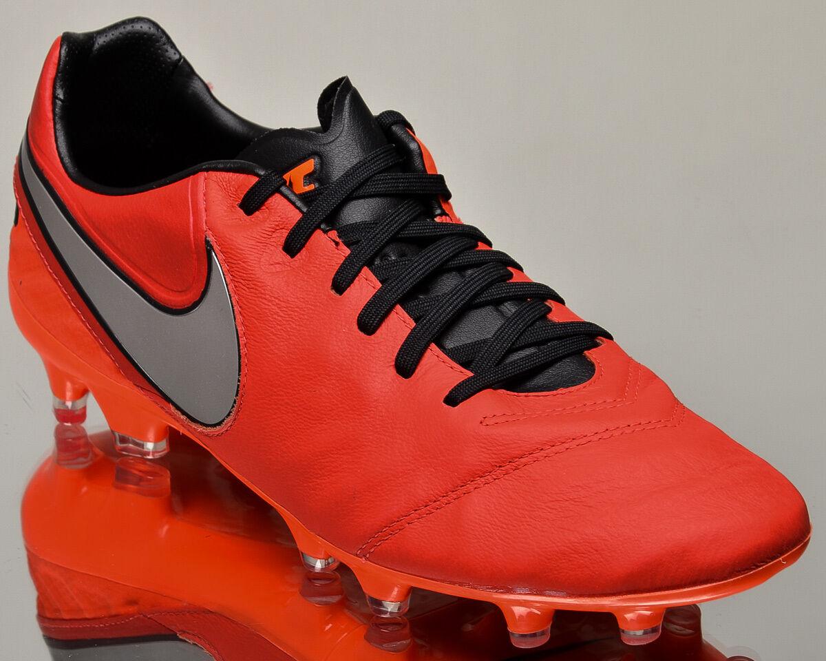 Nike tiempo eredità ii fg 2 uomini gli scarpini da calcio calcio nuova luce cremisi silver