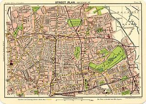 Map Of North East London.Details About Reproduction Bartholemews 1900 Map Of North East London A2 A3 A4 Sizes