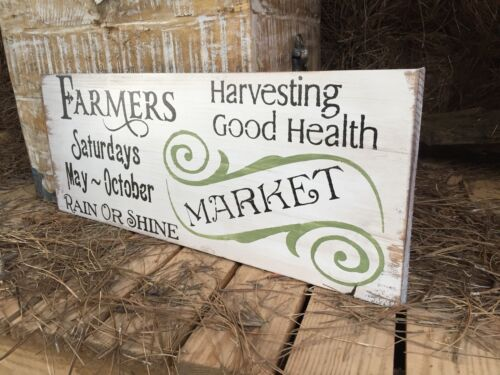 Rustic Kitchen Sign Farmers Market Farmers Market Sign Wood Market Sign