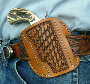Leather-Cross-Draw-Holster-NAA-Ranger-II-North-American-Arms-Ruff-039-s-Brown
