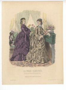 Ladies-Fashion-Print-034-La-Mode-Illustree-034-1872-No-48