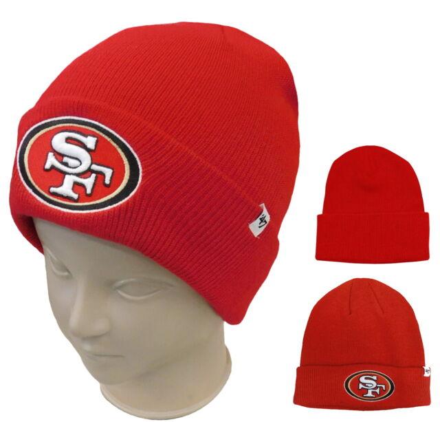 a24fabce1dc 47 BRAND Men s San Francisco 49ers Raised Cuff Knit Beanie Team for ...