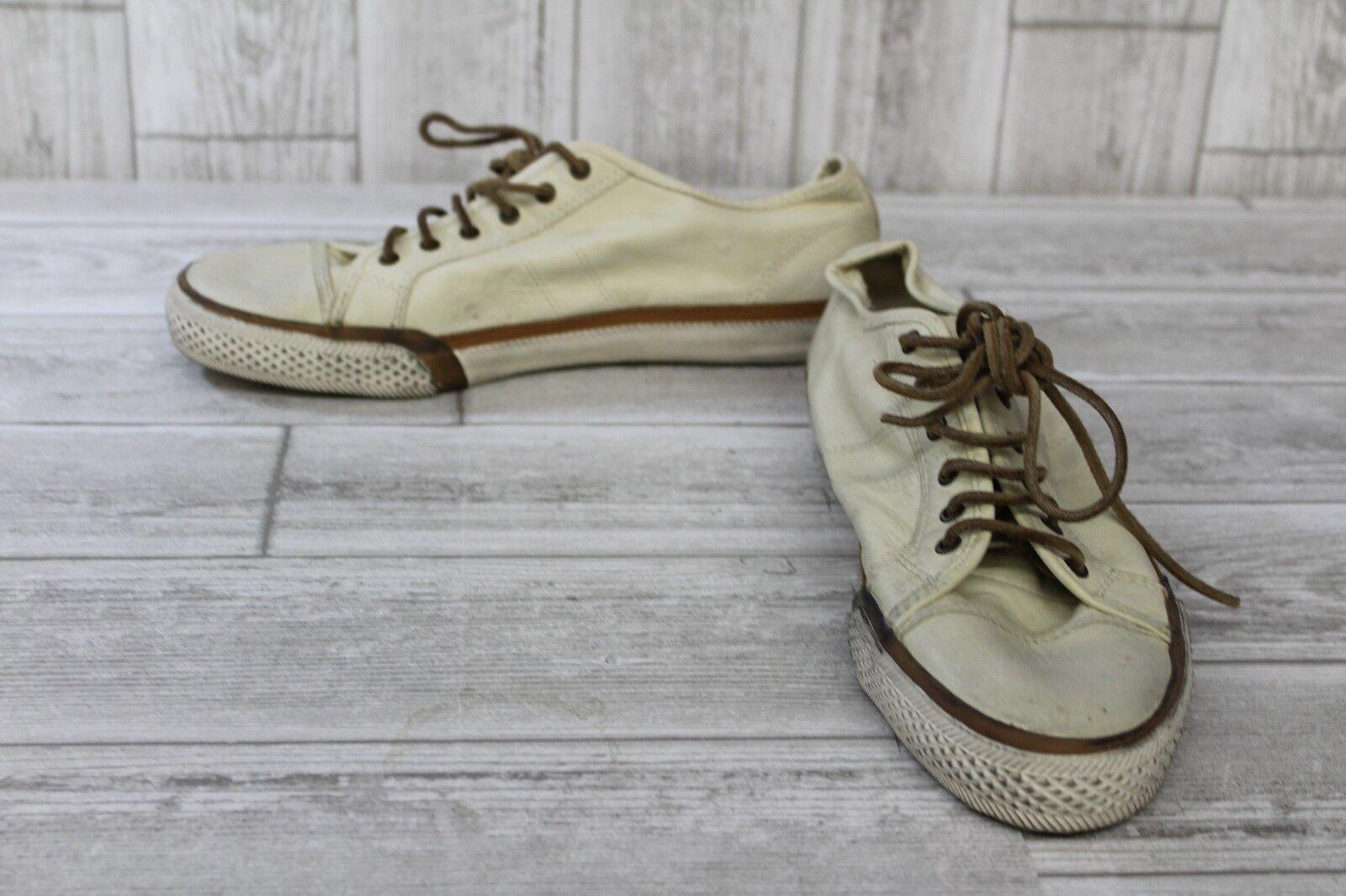 **Frye Greene 71181 Low Lace Sneakers - Women's Size 9M, Off White/Brown