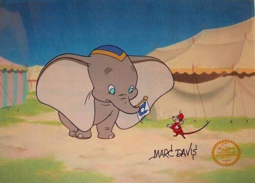 Dumbo Timothy Hand Signed Walt Disney Sericel Cel FREE b//g MARC DAVIS 1980s