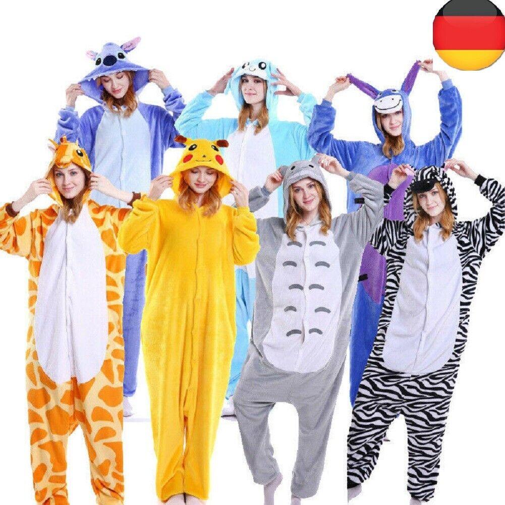 Erwachsene Pyjama Unisex Tier Onesie Kostüm Cosplay OLAF Einhorn Pony Kigurumi
