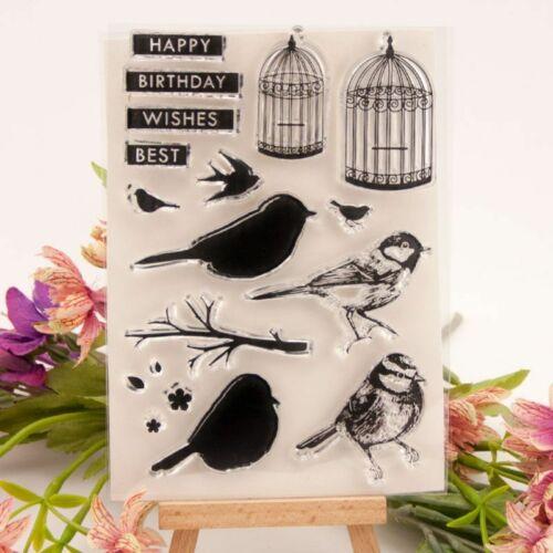 Bird Cage Seal Stamp Cutting Dies Stencil DIY Scrapbooking Paper Card Craft