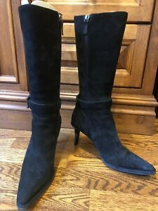 a2a1119d4f9 Details about Gucci Stivale Suola Gomma Suede Nero boots