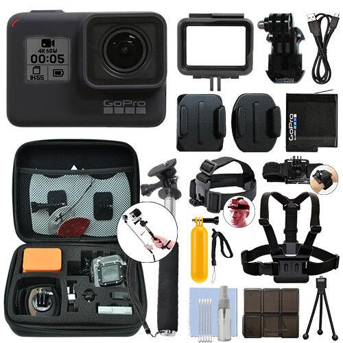 GoPro HERO7 Black 12 MP Waterproof 4K Camera Camcorder + Ultimate Action Bundle Featured
