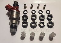 Toyota Pickup 4runner 2.4l 22re Fuel Injector Service Kit O-rings Filters 89-95