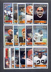 1983-Topps-Football-Cleveland-Browns-TEAM-SET-NM