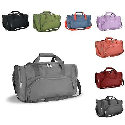 DALIX Signature Travel or Gym Duffle Bag in Black, Gray, Navy Blue Red