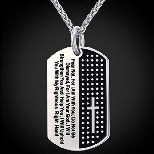 Erkennungsmarke Kreuz Halskette Anhänger Edelstahl Halskette Kette ModeschmuckYE