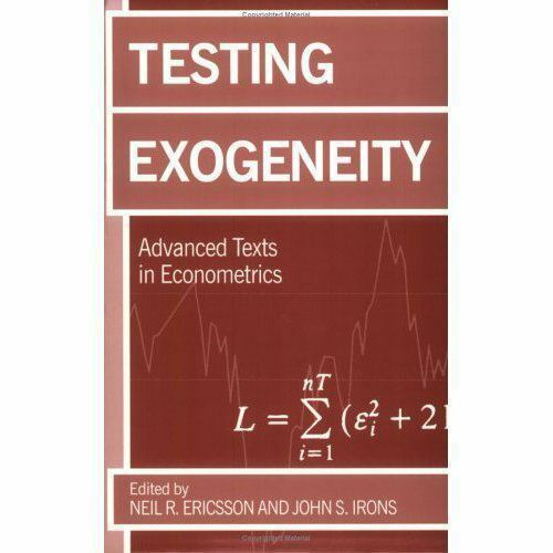 Testing Exogeneity (Advanced Texts in Econometrics)  Paperback Used - Very Good