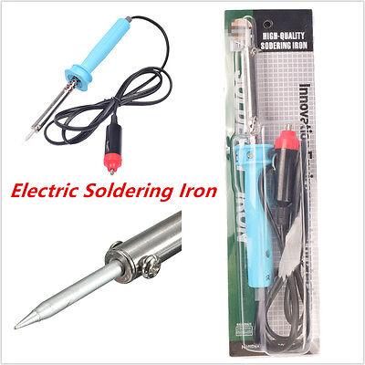 Car Blue Electric Solder Soldering Iron for Cigarette Lighter Socket 12V DC 60W