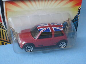 Matchbox Mini Cooper S Red Body Union Jack Flag On Roof Toy Model