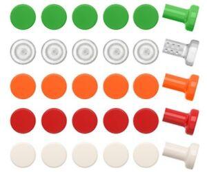 Le Meilleur Nouveau Ikea Satta Boutons 6 Pack Blanc Orange Vert Cabinet Porte Tiroir-afficher Le Titre D'origine