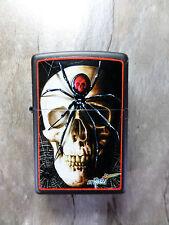 "Zippo  ""SKULL SPIDER"" by MAZZI - BLACK MATTE - NEU & ovp - #735"