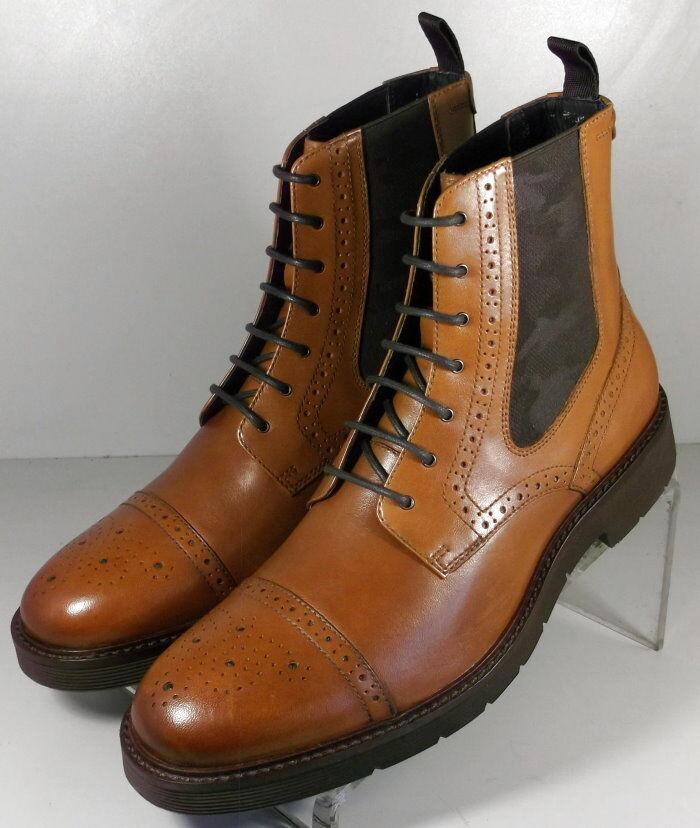 272246 SPBT 50 Chaussures Hommes Taille 9 M marron clair en cuir à lacets Bottes Johnston & Murphy