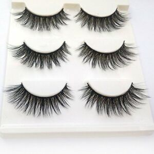 55a5212fdeb 3 Pairs MINK Lashes Eyelashes 3D For Makeup / Pestañas postizas NEW ...
