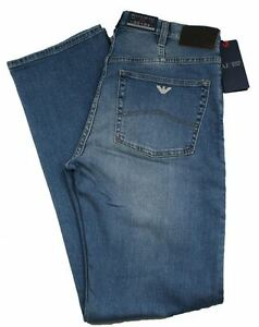 Armani-AJ-Jeans-J31-Regular-Fit-Stone-Wash-Denim-Blue-with-Zip-Fly-34-legs
