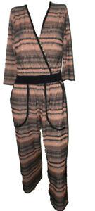Tuta-Intera-Pantalone-3-4-Elegante-Donna-Luisella-Mariani-Vestito-Lurex-Taglia-M