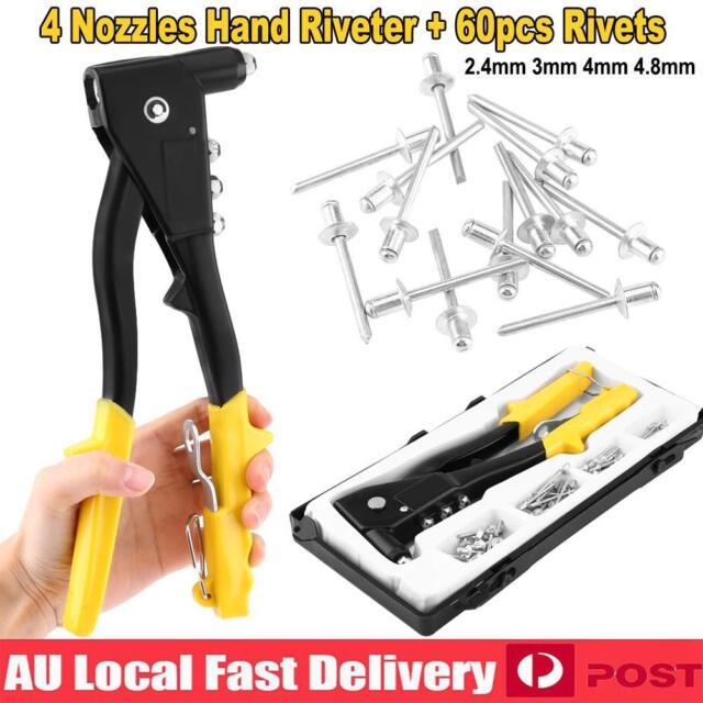Rivet Nut Gun For 3.2mm 4mm 4.8mm Rivet Riveter Tool Pop Rivet Nut Kits