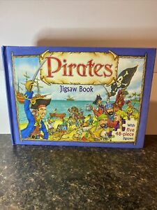 The Five Mile Press Pty Ltd Pirates Jigsaw Book W/ 5 48-piece Jigsaw Puzzles Fun
