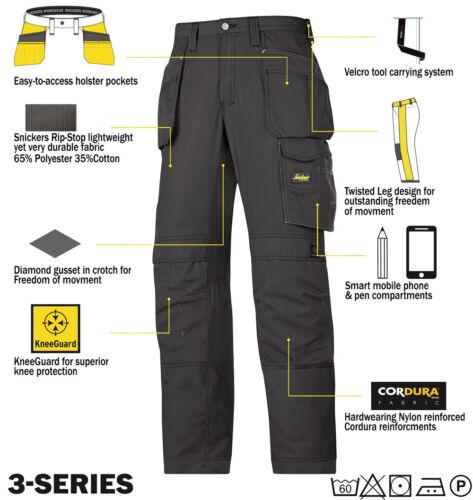 Snickers Rip Stop Cordura Pantalons De Travail Pantalons Kneepad /& étui Poches 3213 direct