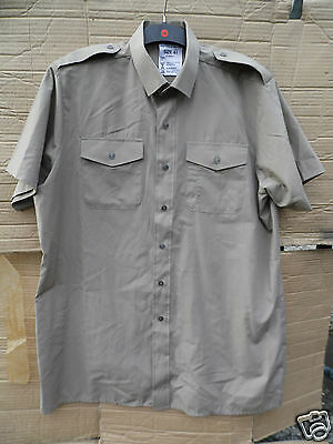GENUINE BRITISH ARMY TROPICAL STONE SHORT SLEEVE SHIRTS GRADE 1 CONDITION