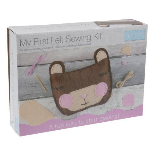 1x My First Thread Sewing Kit Felt Teddy Bear Cushion Sewing Craft Tool Hobby
