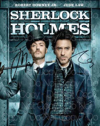 Sherlock Holmes signed Law Downing Jr 8X10 photo picture poster autograph RP 2