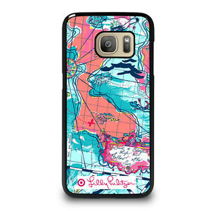 LILLY-PULITZER-MAP-Samsung-Galaxy-S4-S5-S6-S7-Edge-S8-Plus-Note-Phone-Case-Cover
