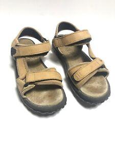 Hiking Trail Sandals Tan Leather