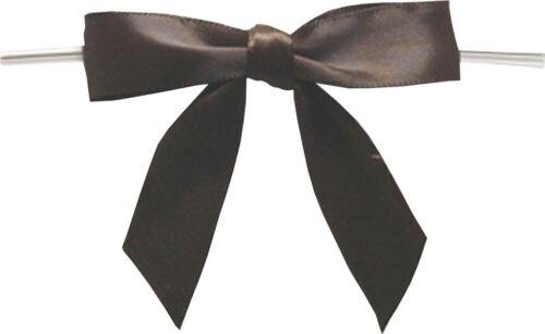"""2.75/"""" Brown Twist Tie Bows Baywind LTD packed 100 pieces"""