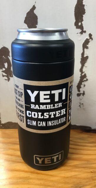 YETI Rambler Colster Slim Can Insulator Black Koozie