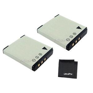 2x D-LI68 DLI68 Battery + BONUS for Pentax Optio S10 S12 A36 A40 Q Q10 VS20