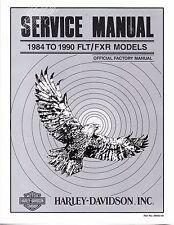 1984-1990 Harley FLT / FXR Service Repair Shop Workshop Manual Book 99481-90
