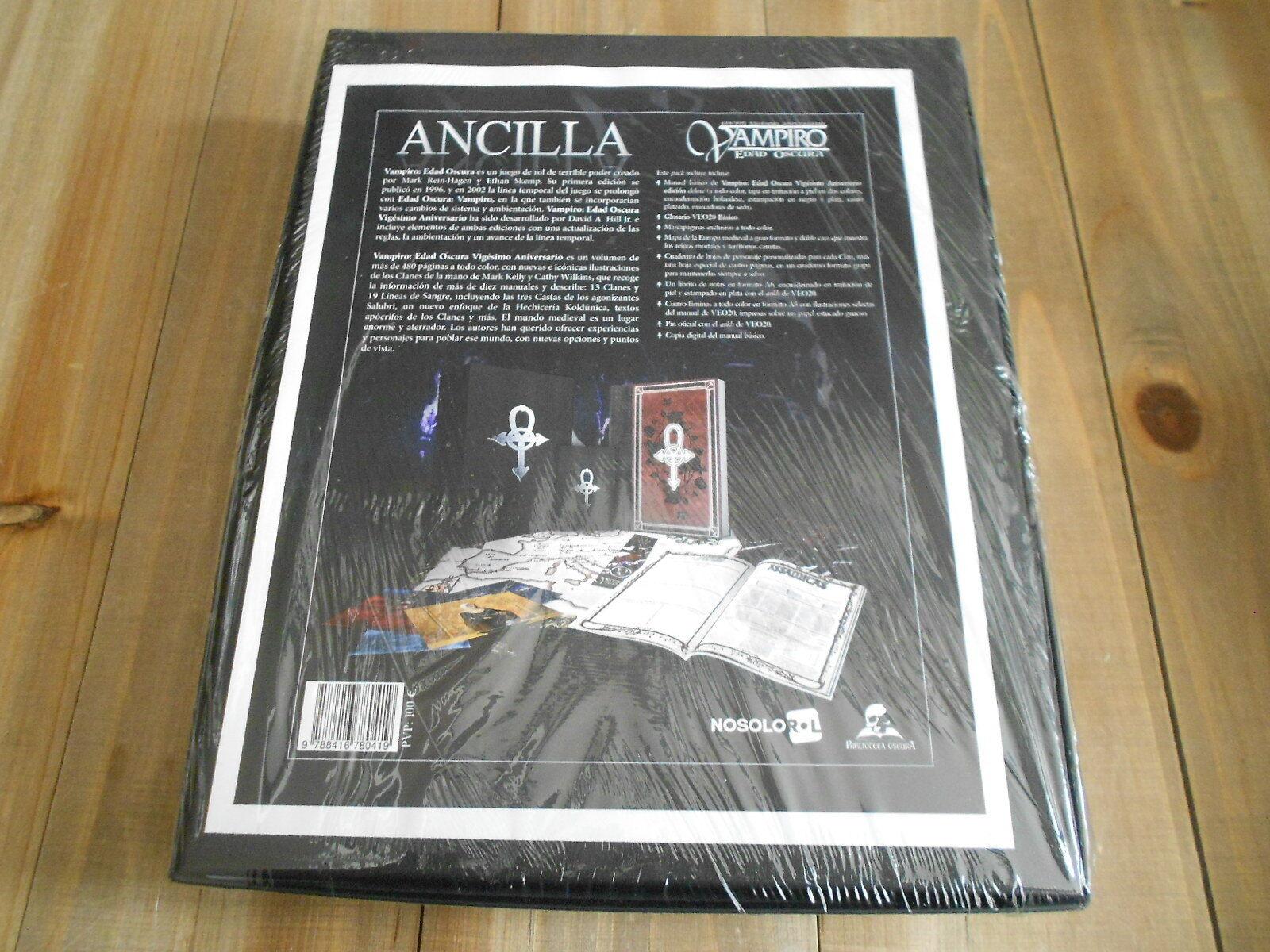 Vampire  Age Sombre - Boîte Patronage Ancilla - Jeu Rôle - Nosolorl VEO20  magasiner en ligne aujourd'hui