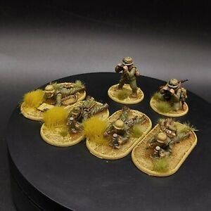 PRO PAINTED 28mm BOLT ACTION Afrika Korps LUCE Mortaio SQUADRE × 3 (6 Uomini) ww2
