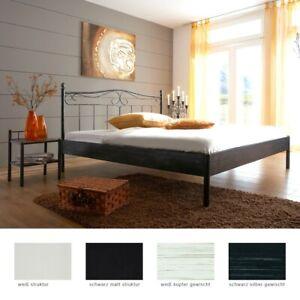 Metallbett Paros Nachttisch Farbe Und Grosse Nach Wahl Futonbett Schlafzimmer Ebay