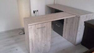 Roller Schreibtisch Winkelkombination Sonoma Eiche Ebay