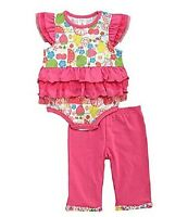 Baby Girls Clothes Starting Out Fruit 2-piece Pants Set 6 Months Hot Pink