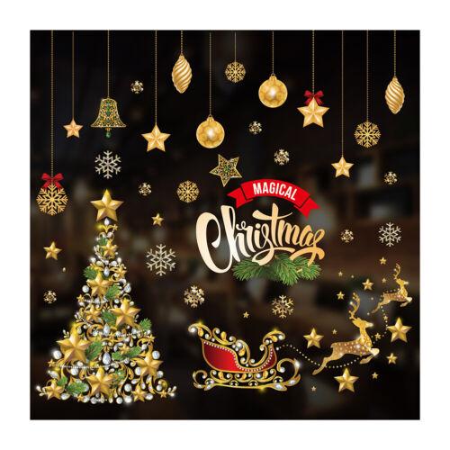 Merry Christmas Window Wall Stickers Decor Home Xmas Tree PVC Glass Door Sticker