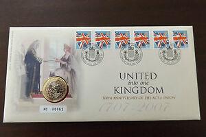 GB-QEII-PNC-moneda-Cubierta-2007-el-acto-de-union-1707-2-Royal-Mint-mail-B-UNC